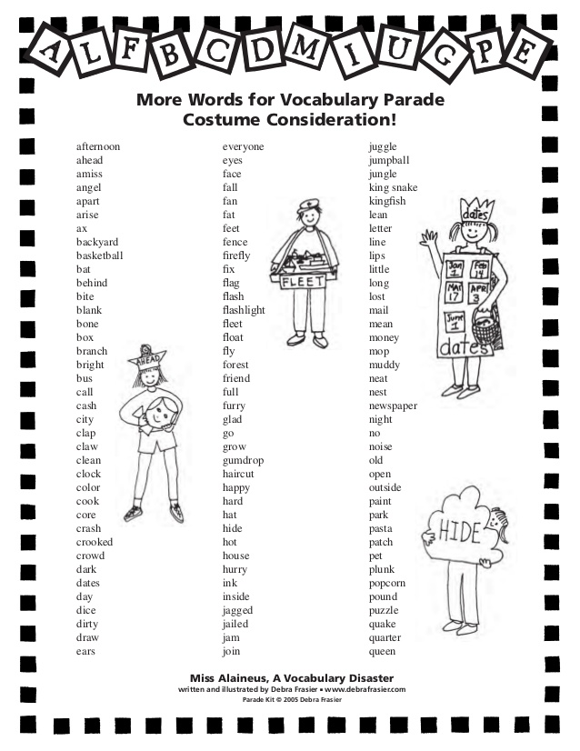 Word Parade Costume Ideas & Altitude Sc 1 St Mrs. Gorhamu0027s.