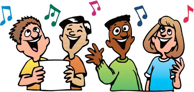 Vocal kids clipart.