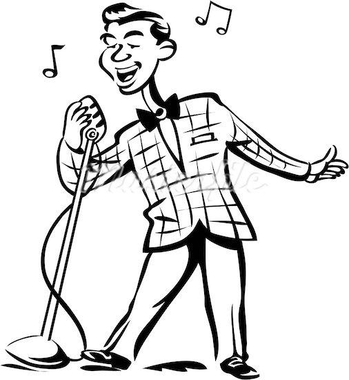 Vocalist Clipart.