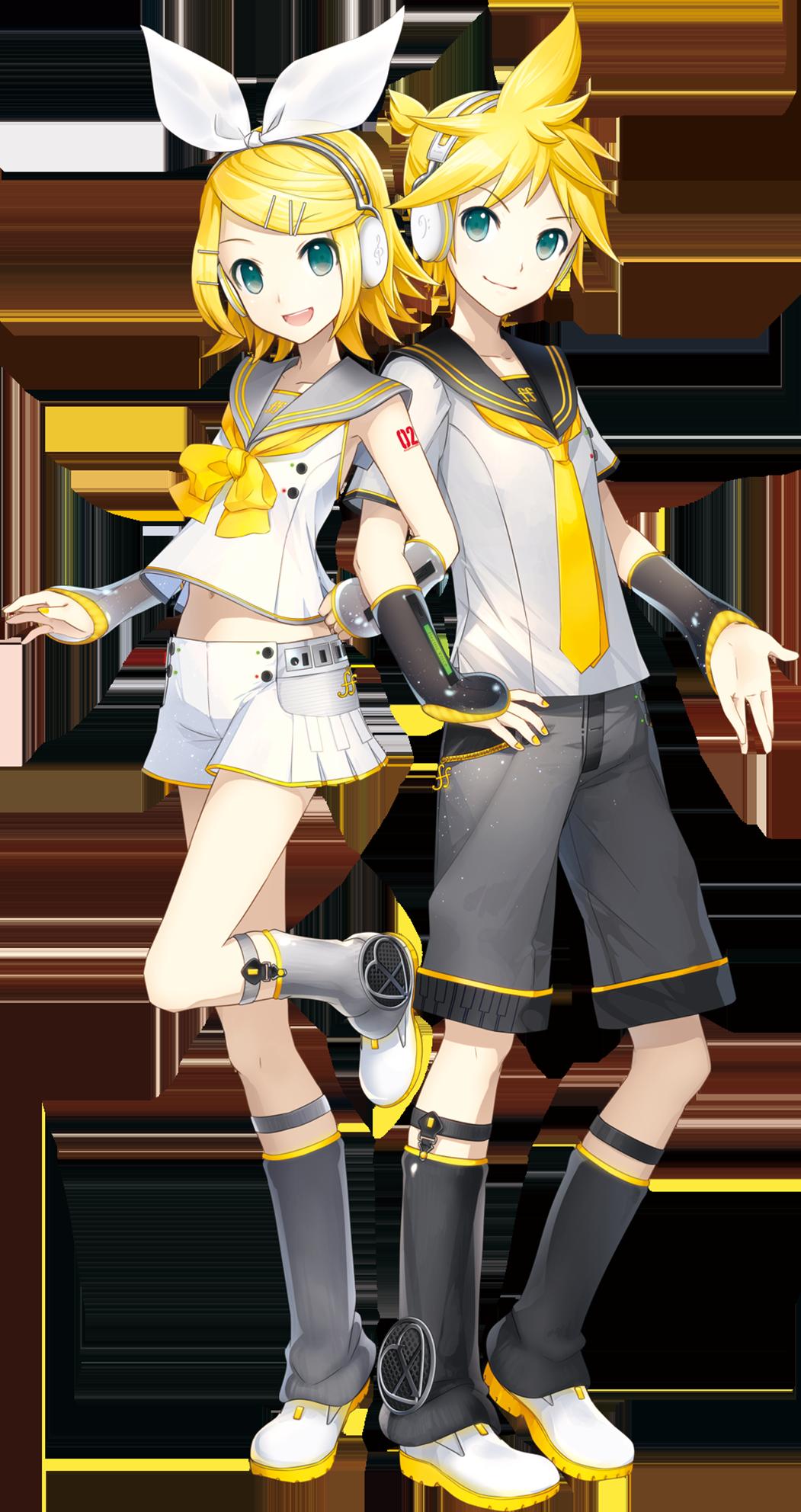 Kagamine Rin & Len.