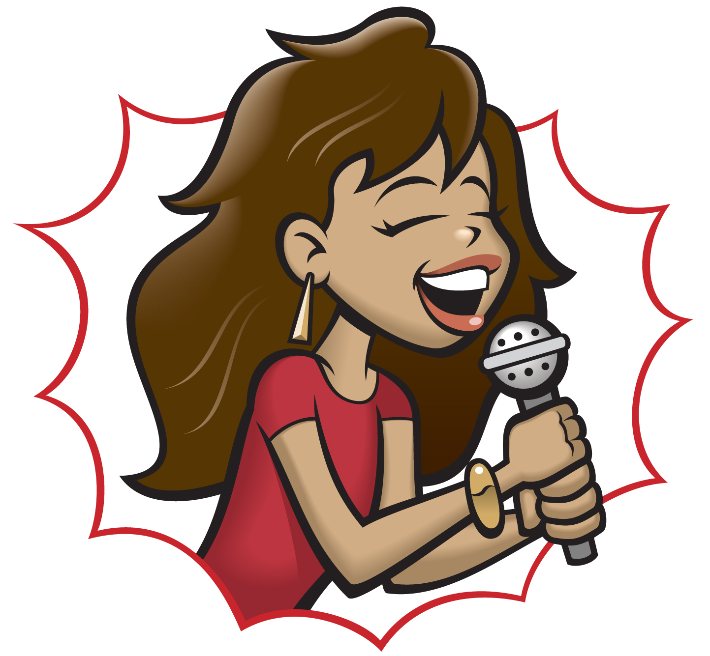 Lady Singer Clipart.
