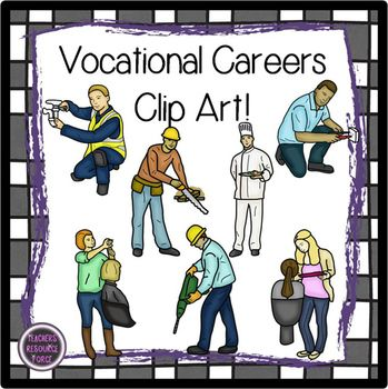 Vocational Careers clip art.