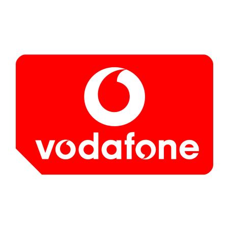 Vodafone Mobile Operator vector logo.