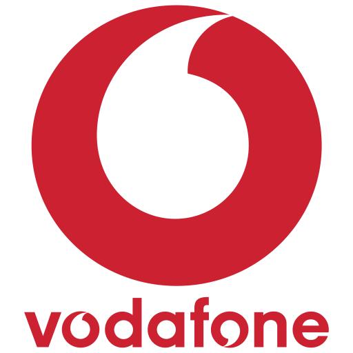 Vodafone Logo Icon of Flat style.