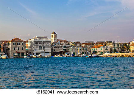 Stock Photography of Adriatic town of Vodice waterfront, Dalmatia.