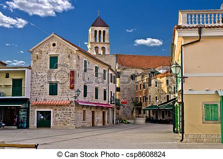 Stock Photo of Adriatic Town of Vodice, Croatia.