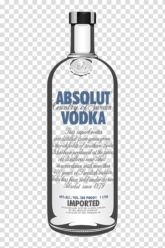 Abosolut Vodka bottle , Absolut Vodka Bottle V&S Group Wine, vodka.