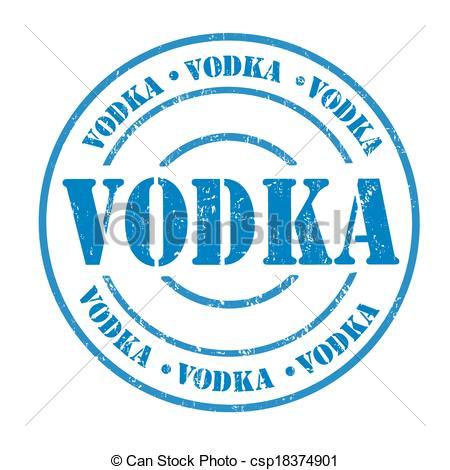 Vector Clipart of Vodka stamp.