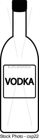EPS Vectors of Vodka bottle icon on white background. Vector.