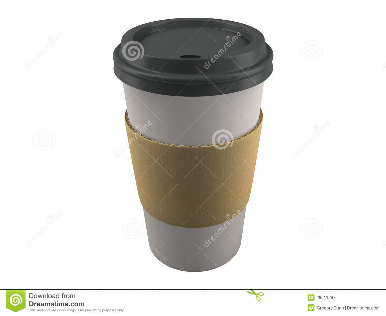 Paper Coffee Cup Isolated Royalty Free Stock Photography.