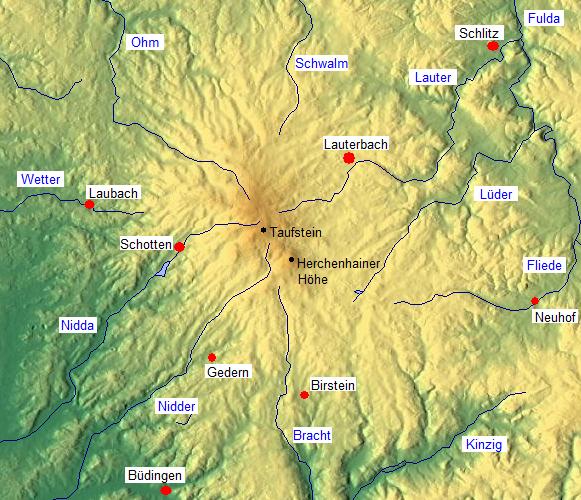 Vogelsberg Mountains.