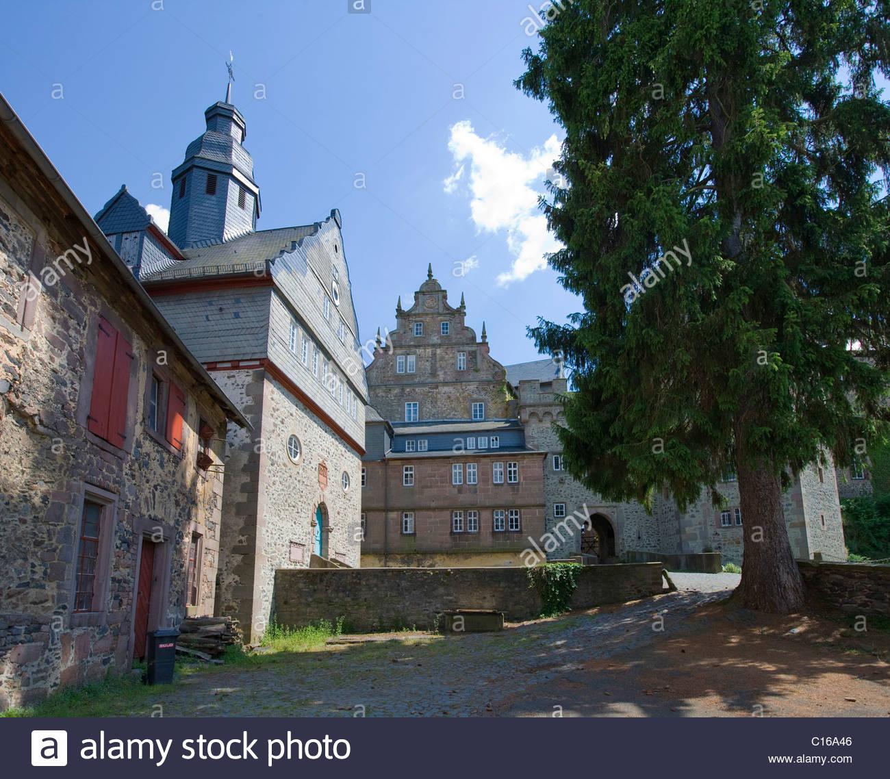 Medieval Eisenbach Castle, Lauterbach, Vogelsberg Mountains, Hesse.