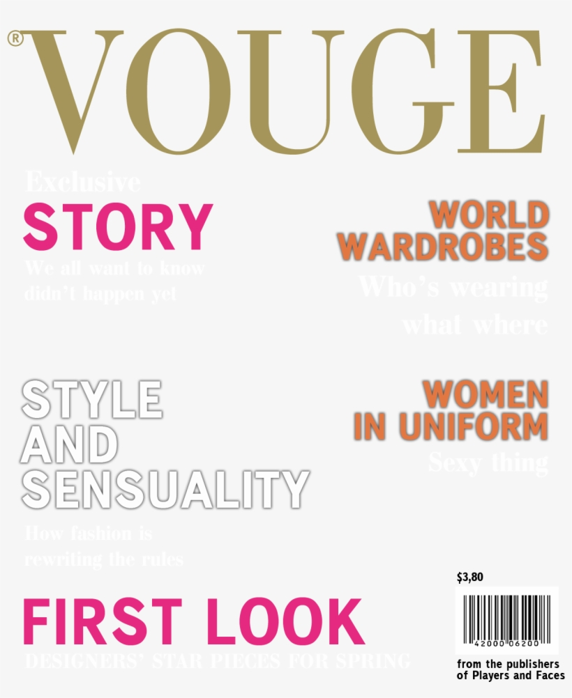 Vogue Cover Magazine Png Transparent PNG.