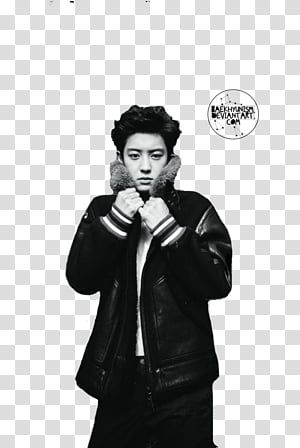 CHANYEOL FOR VOGUE MAGAZINE, man holding red cane.