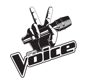 The Voice Logo With Microphone transparent PNG.