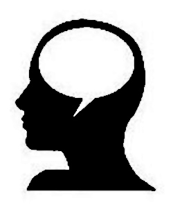 Voice in head clipart.
