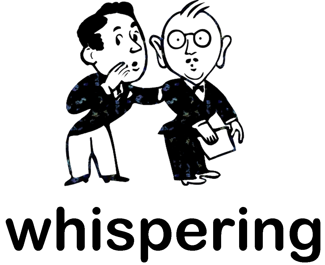 Whisper voice clip art.