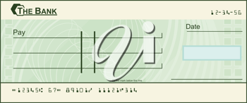 Royalty Free Clipart Image of a Void Cheque #479958.