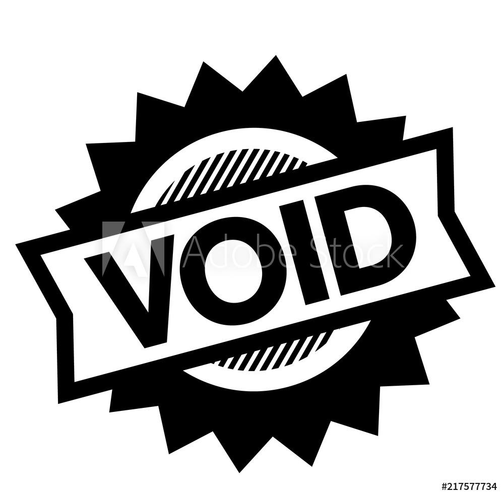 Photo & Art Print void black stamp.