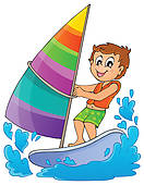 Clipart of Water sport theme image 8 k13778130.