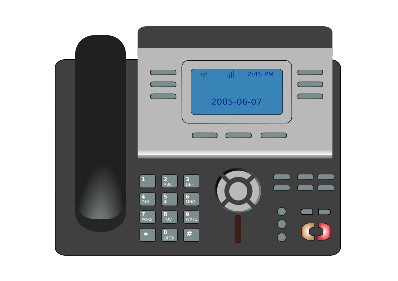 Free Clipart: VOIP phone.