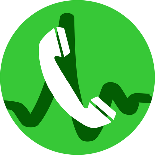 VOIP call icon vector illustration.