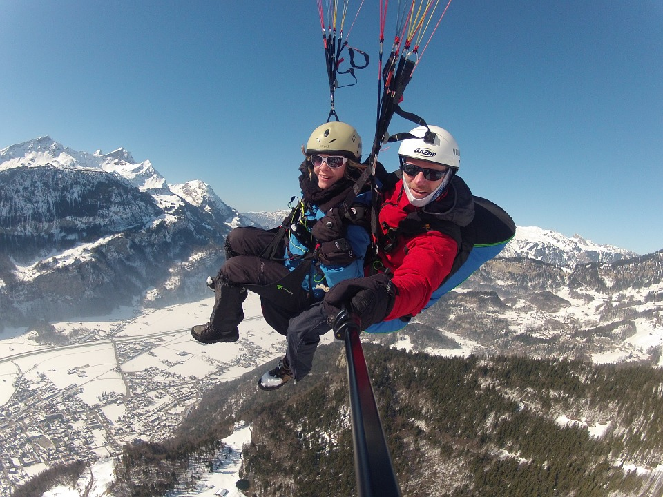 Free photo Volaris Paragliding Tandem Flight Paragliding.