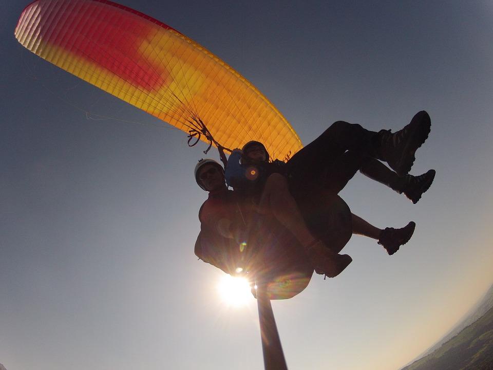 Free photo Tandem Flight Volaris Paragliding Paragliding.