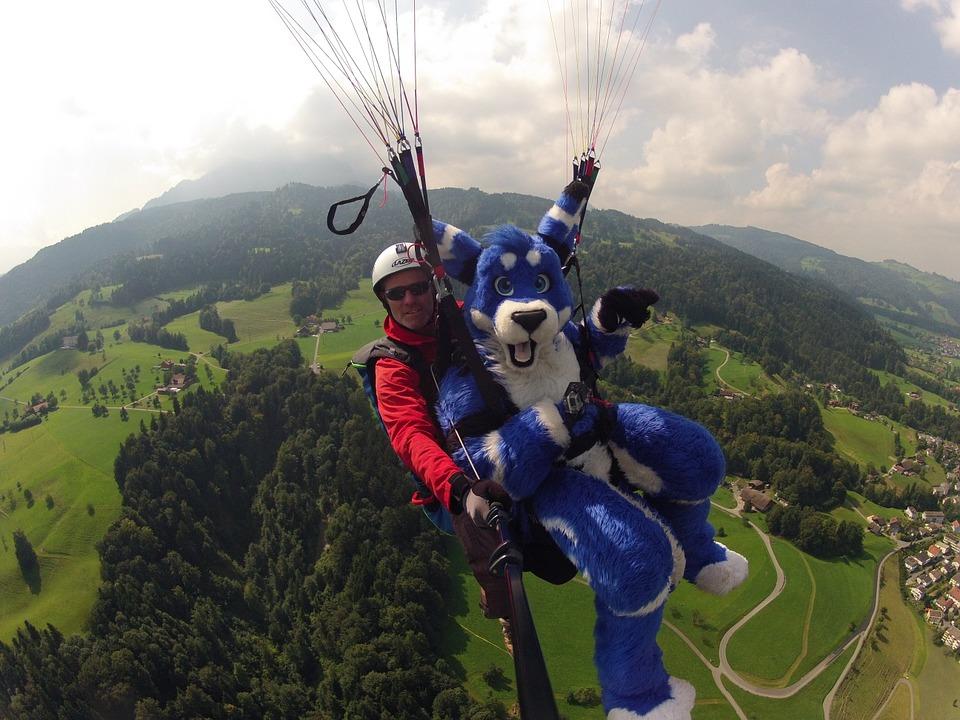 Free photo: Volaris Paragliding, Tandem Flight.