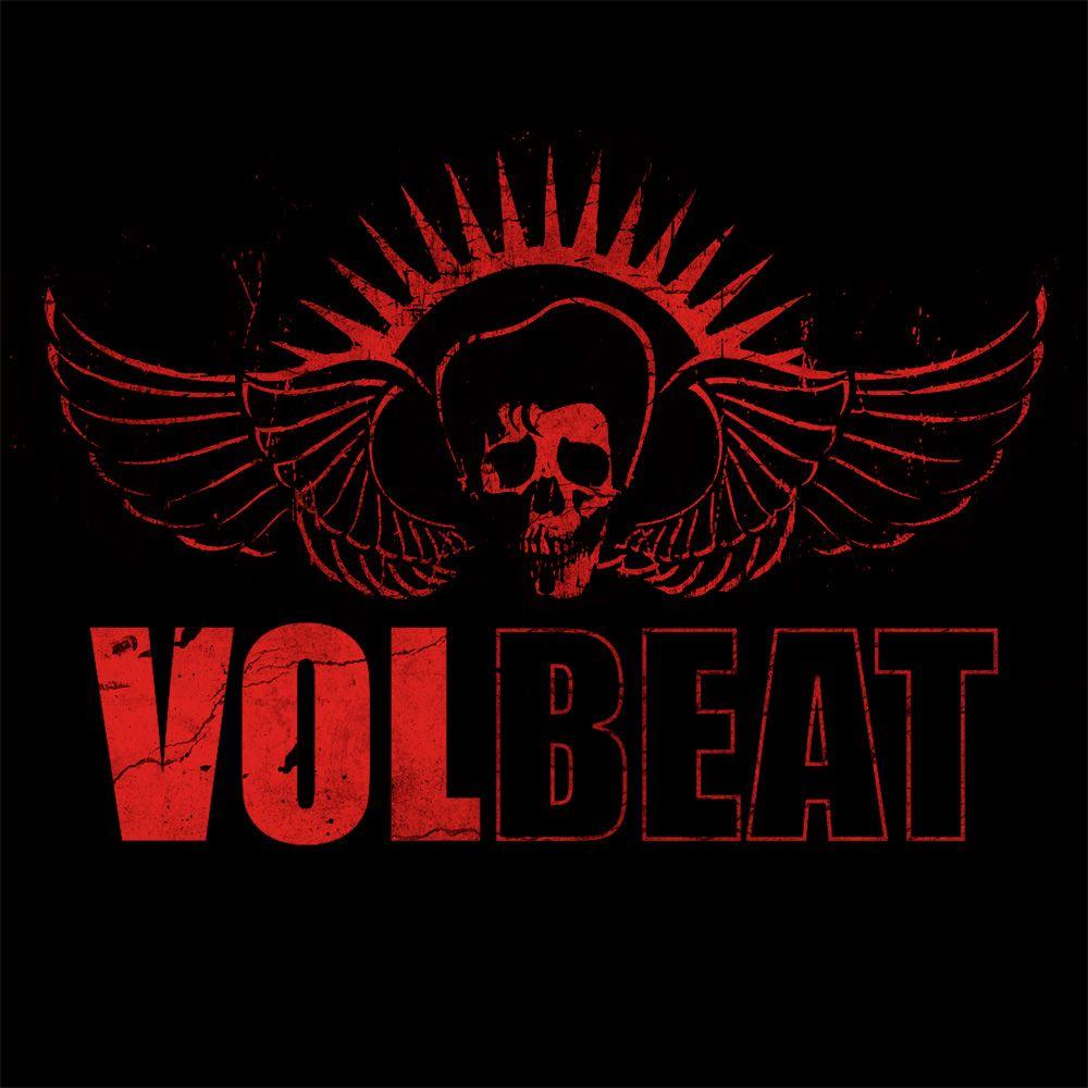 Volbeat Logo in rot in 2019.