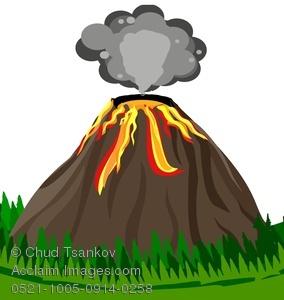 Volcano images clip art.