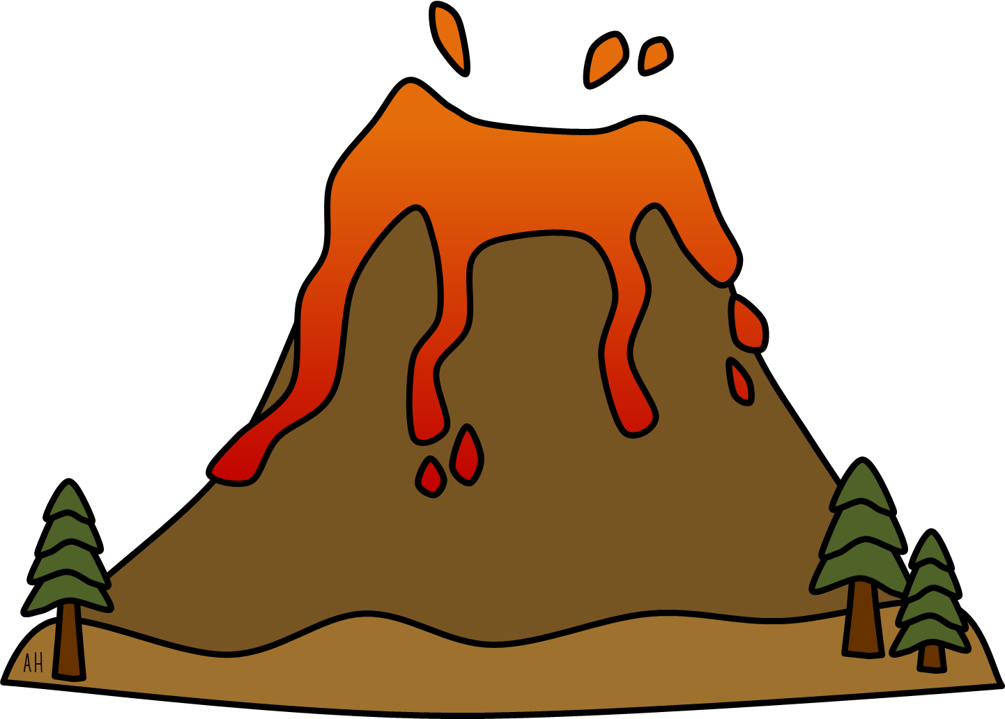 mouth landform clipart #1