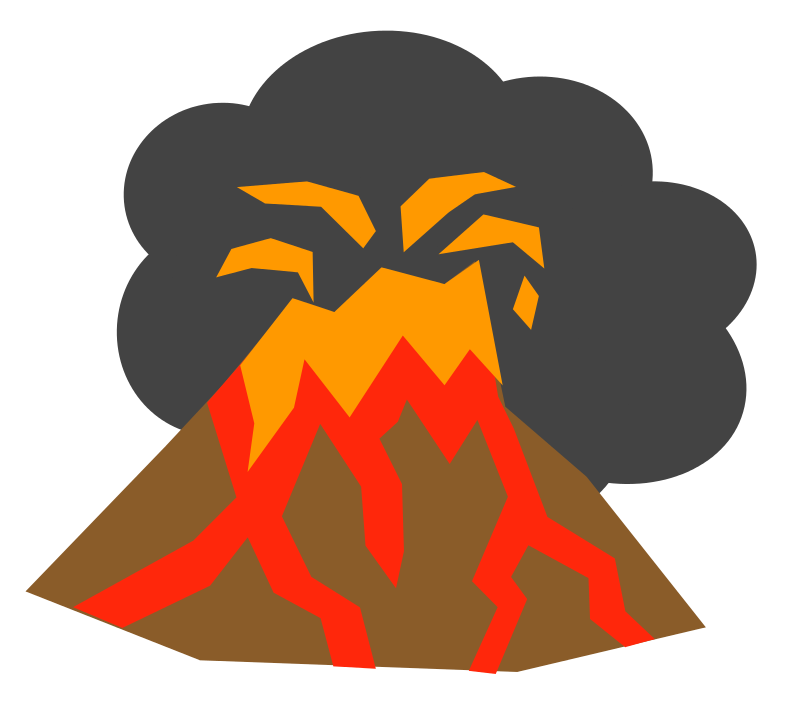Volcano clipart.