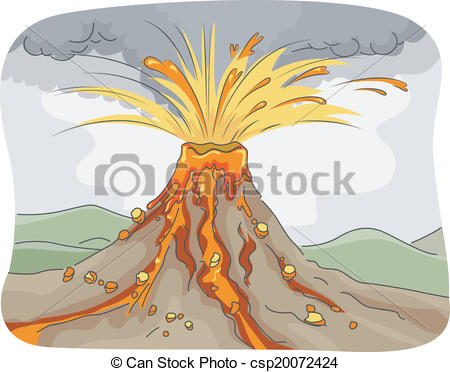 Volcanic eruption Clipart Vector and Illustration. 343 Volcanic.
