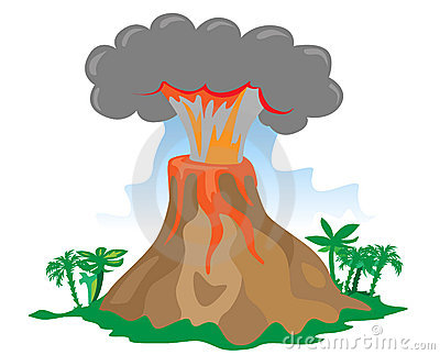 Volcano Eruption Clip Art.