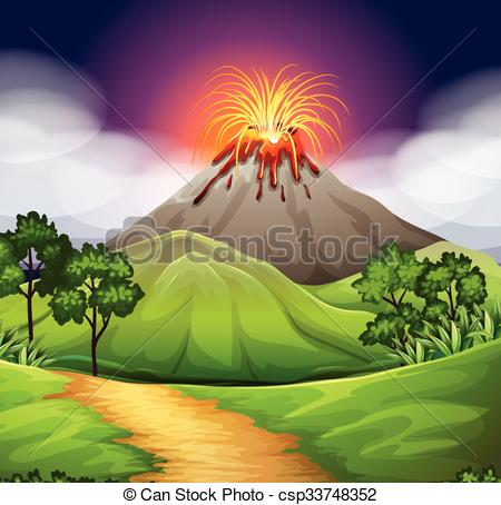 Volcano eruption Illustrations and Clip Art. 1,281 Volcano.