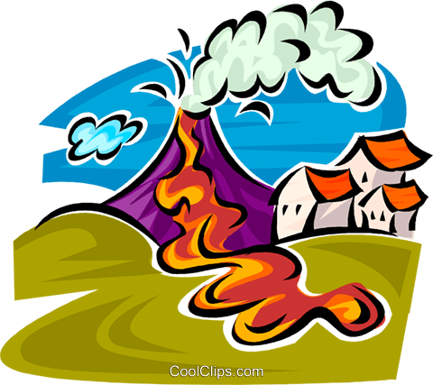 Volcanic eruption clipart.