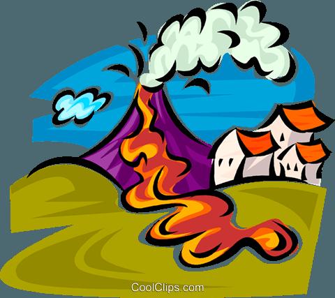 Volcanic eruption clipart.