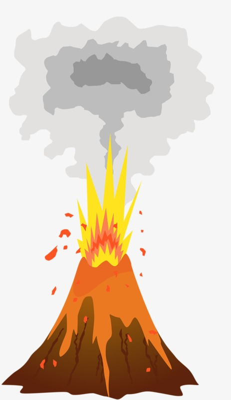 Volcano Eruption, Volcano Clipart, Creative, Cartoon PNG Transparent.