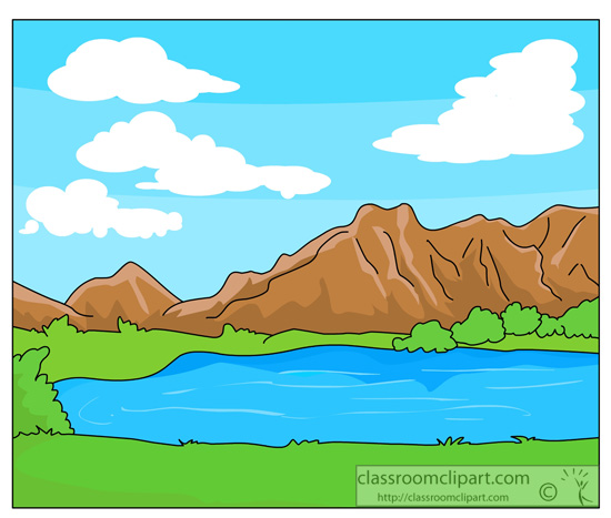 Mountain Lake Clipart.