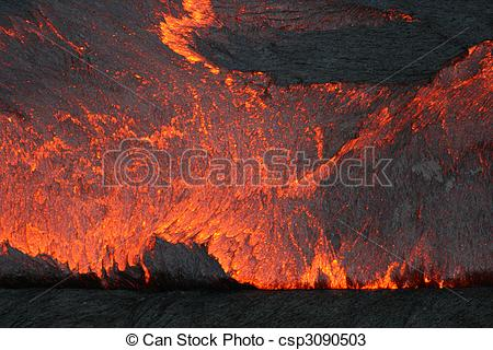 Stock Photos of Lava lake surface.