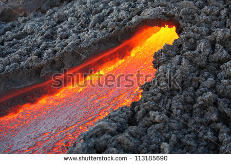 Lava Flow Stock Images, Royalty.