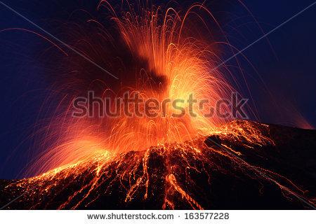 Volcano Stock Photos, Royalty.