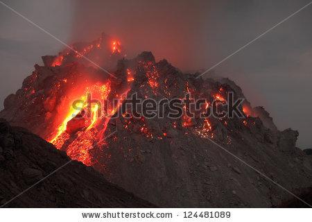 Volcano Lava Stock Photos, Royalty.