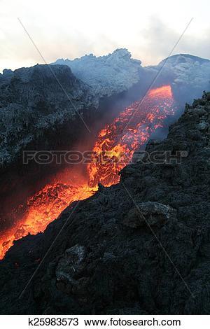 Stock Photo of Mount Etna volcano k25983573.
