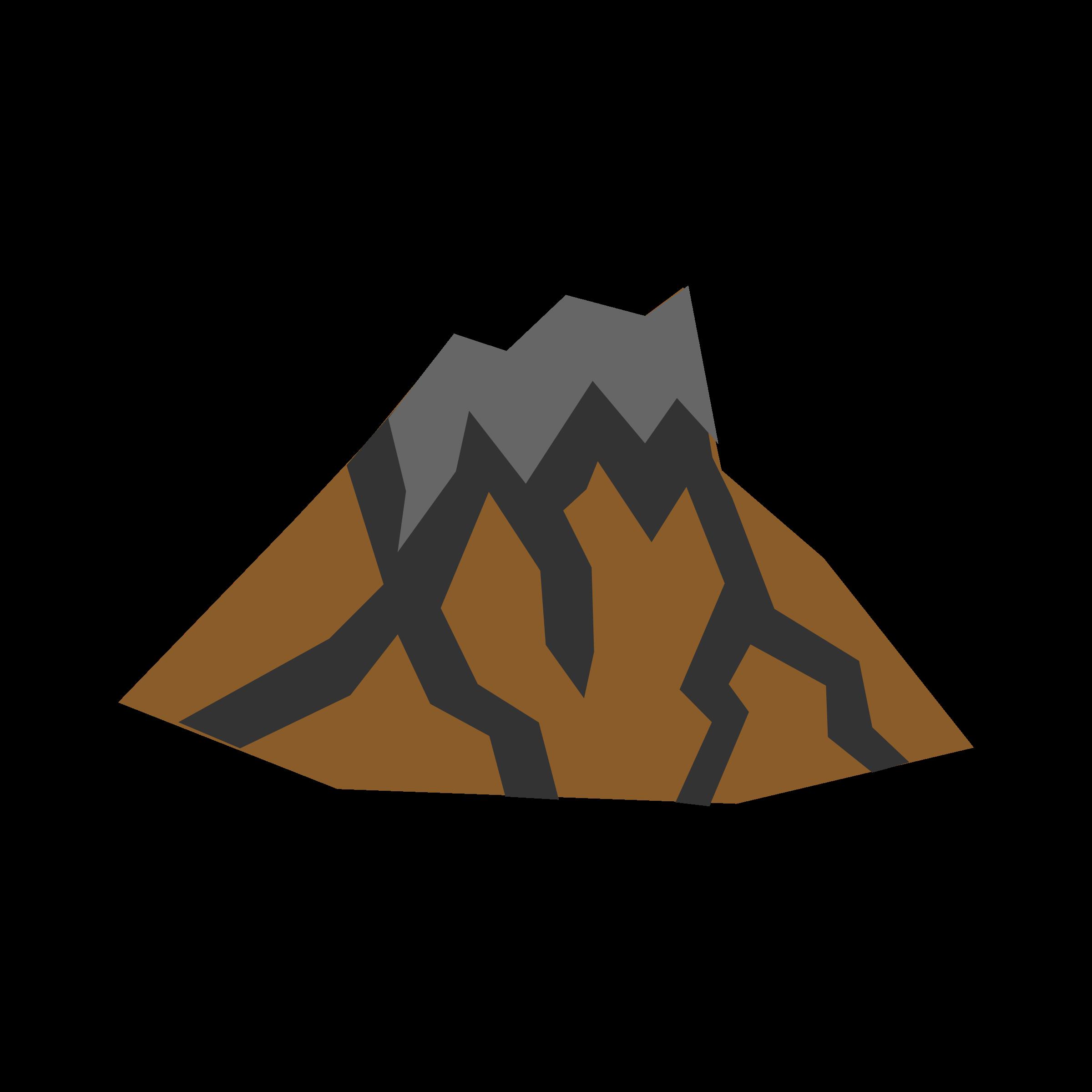 Dormant volcano clipart.
