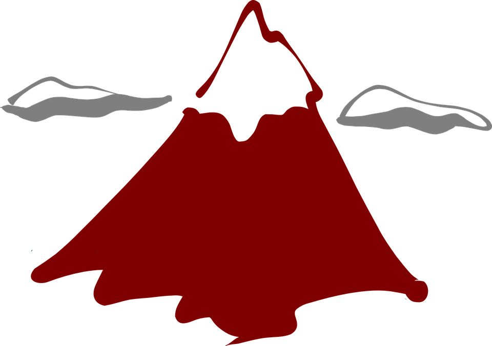 Free vector graphic: Volcano, Volcanism, Mountain, Peak.