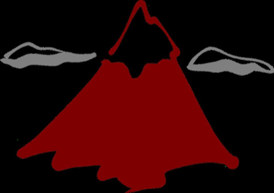 Free vector graphic: Volcano, Volcanism, Mountain, Peak.