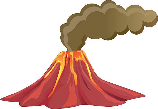 Volcanoes Clipart.
