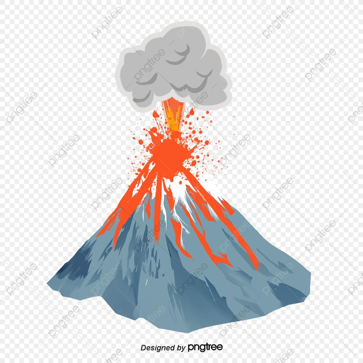 Volcano Eruption, Volcano Clipart, Creative, Cartoon PNG Transparent.